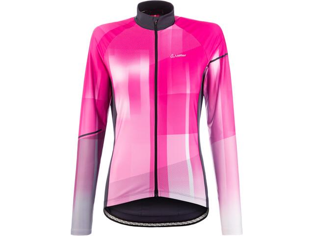 Löffler Speed Maglietta Da Ciclismo A Maniche Lunghe Donna, magenta